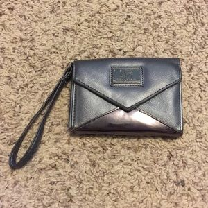 Grey Kenneth Cole Reaction wristlet wallet
